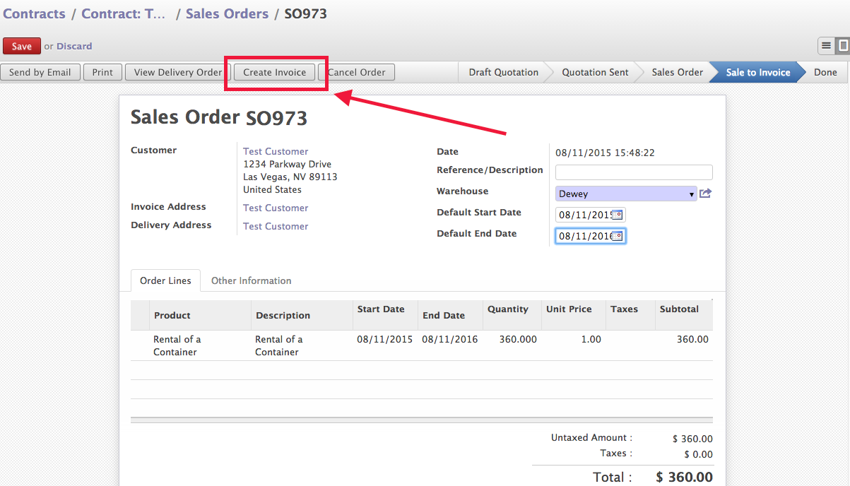 LasLabs Blog Using Odoo Opening An Invoice On A Contracted - Order invoice