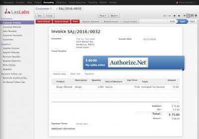 Odoo Invoice Email