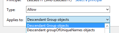 Active Directory Permissions - Descendant Group Objects